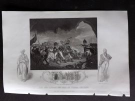 Tallis (Pub) 1854 Military Print. Last Effort and Fall of Tippoo Sultan, India